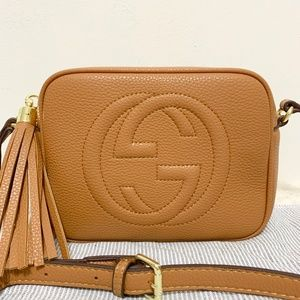 Gucci Small Leather Disco Bag Brown